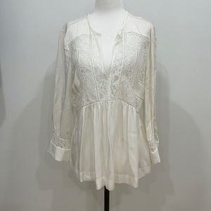 Brand new silk lace blouse
